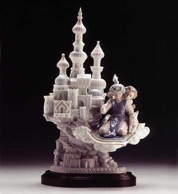 Lladro Dreams Of Aladdin 1996-99 Porcelain Figurine