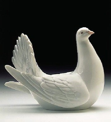 Lladro Peaceful Dove 1996-99 Porcelain Figurine