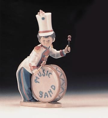 Lladro Band Bass Drummer 1996-99 Porcelain Figurine