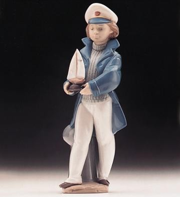 Lladro Little Sailor Boy 1996-99 Porcelain Figurine