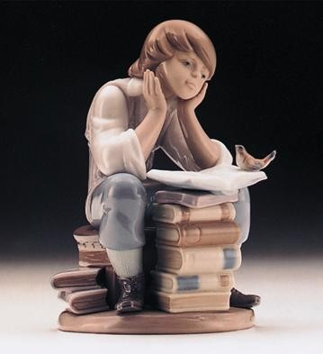Lladro Little Distraction 1996-99 Porcelain Figurine