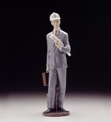 Lladro Architect 1996-99 Porcelain Figurine