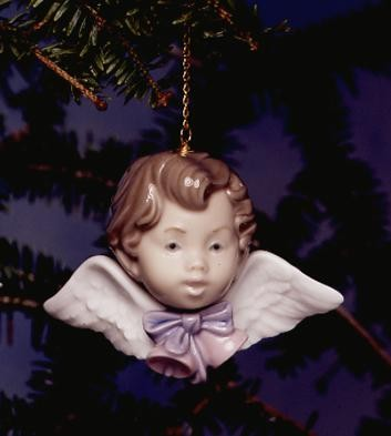Lladro Seraph With Bells Porcelain Figurine