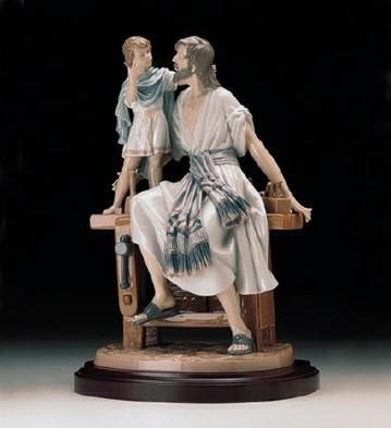 LladroSt. Joseph The Carpenter 1997-99Porcelain Figurine