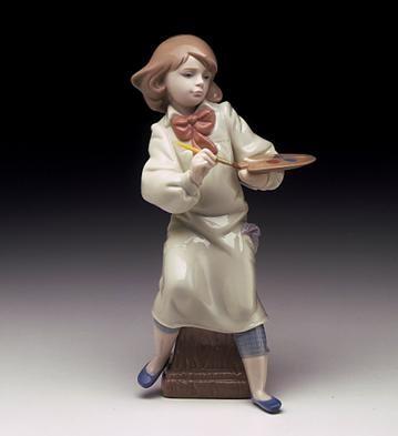 LladroLittle Artist 1997-00Porcelain Figurine