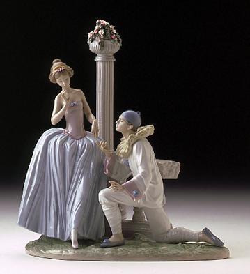 LladroPierrot's ProposalPorcelain Figurine