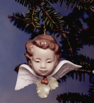 Lladro Seraph With Holly Porcelain Figurine