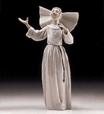 Lladro Sister Singing Usa 1997-99 Porcelain Figurine