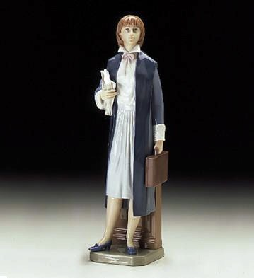 LladroFemale Lawyer 1997-00Porcelain Figurine