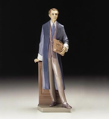 Lladro Male Lawyer 1997-00 Porcelain Figurine
