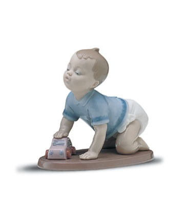Lladro Ready To Roll 1997-01 Porcelain Figurine