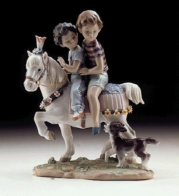 Lladro Pony Ride 1997-00 Porcelain Figurine