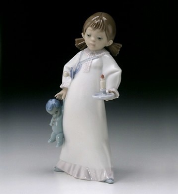 Lladro Time For Bed Porcelain Figurine