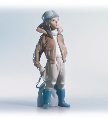 Lladro Little Aviator 1996-02 Porcelain Figurine