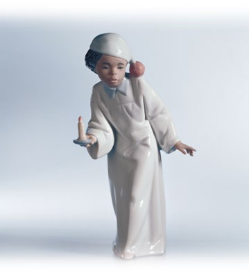 Lladro Who's There? 1997-02 Porcelain Figurine
