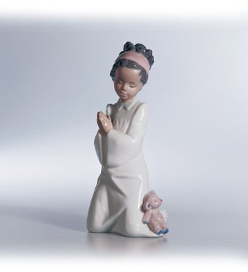 Lladro Black Legacy Bedtime Prayers 1997-13 Porcelain Figurine