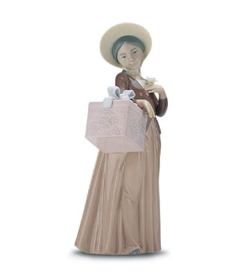 Lladro Gone Shopping 1998-01 Porcelain Figurine