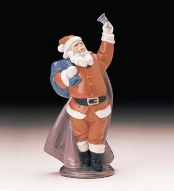 Lladro Jolly Santa 1998 Only Porcelain Figurine