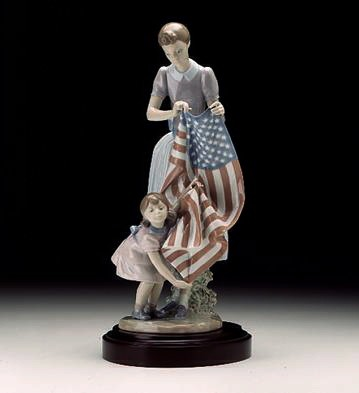 Lladro Fourth Of July Porcelain Figurine