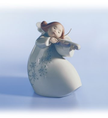 Lladro Little Angel With Violin Porcelain Figurine