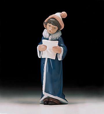 LladroA Christmas Caroler 1998-00Porcelain Figurine