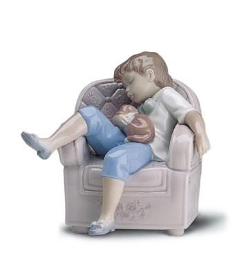 LladroNaptime Friends 1998-01Porcelain Figurine