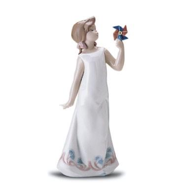 LladroPretty Pinwheel 1998-01Porcelain Figurine