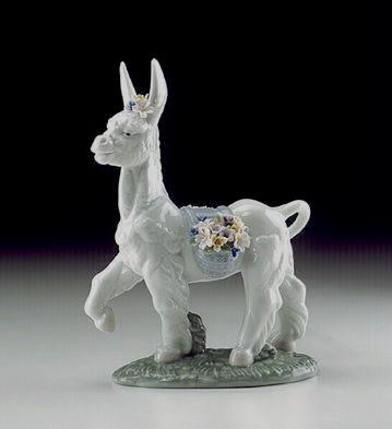 LladroParading Donkey 1998-02Porcelain Figurine
