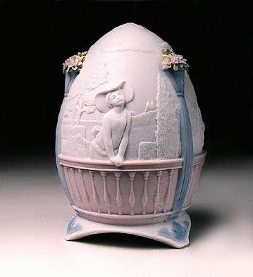 Retired LladroGarden Stroll-1998 Ltd egg