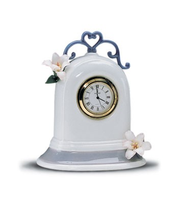 Lladro Clock (white) Porcelain Figurine