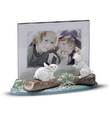 LladroLandscape Frame(garden BunniesPorcelain Figurine