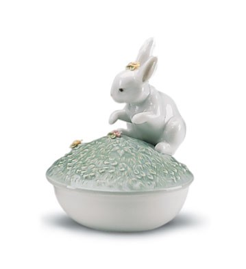Retired Lladro Box(garden Bunnies Collection)
