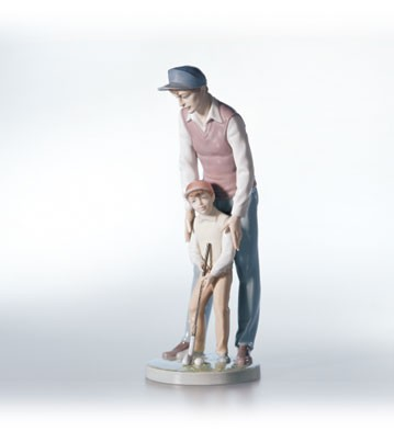 LladroLike Farther, Like Son 1999-02Porcelain Figurine