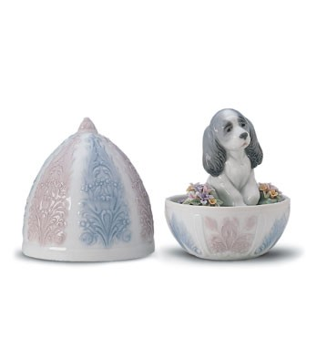 Lladro Puppy Surprise 1999-01 Porcelain Figurine