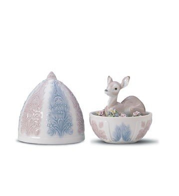 Lladro Fawn Surprise Porcelain Figurine
