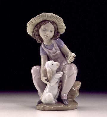 Lladro Friends Forever 1999 Porcelain Figurine