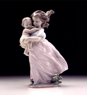 LladroPlaying Mom 2000 EventPorcelain Figurine