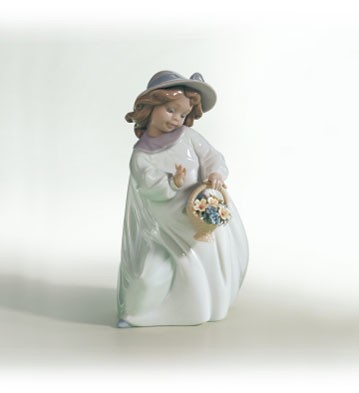 LladroHappinessPorcelain Figurine