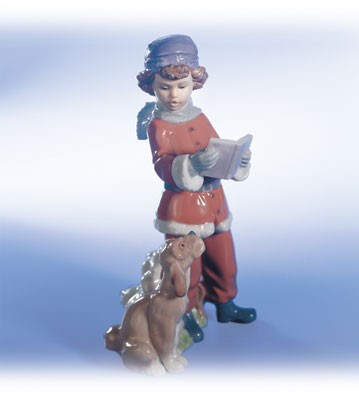 LladroA Christmas DuetPorcelain Figurine