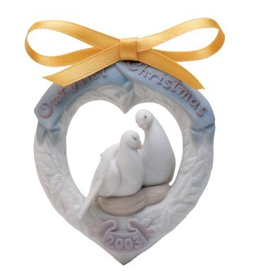 LladroOur First Christmas 2003 OrnamentPorcelain Figurine