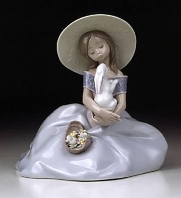 LladroBunny Kisses 2001 EventPorcelain Figurine