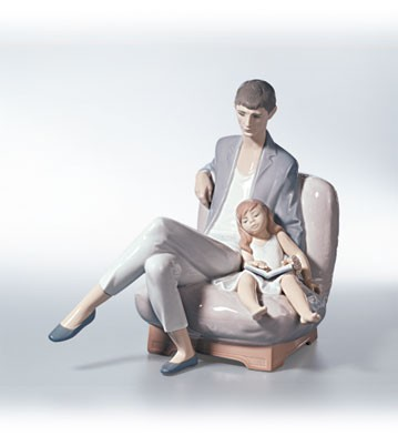 Lladro Reading With Daddy 2001-02