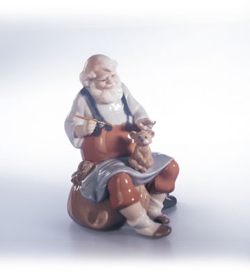 Retired Lladro Santa's Magic Touch