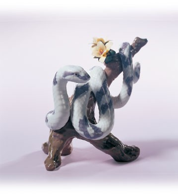 Lladro The Snake 2001 Zodiac Figure Porcelain Figurine