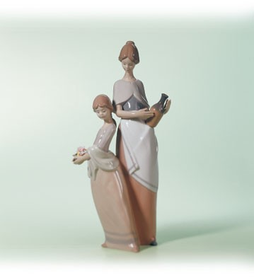 Lladro Sunset In The Country 2001-03 Porcelain Figurine