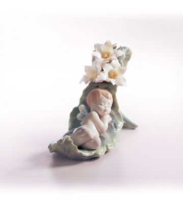 Lladro Dreaming On Dew Drops Porcelain Figurine