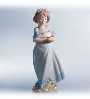 Lladro Peaceful Porcelain Figurine