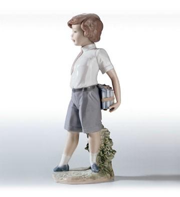 LladroLittle School BoyPorcelain Figurine