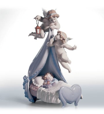Lladro Sleep Well, Sweet Baby Porcelain Figurine