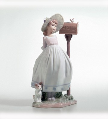 LladroWaiting For Your LetterPorcelain Figurine